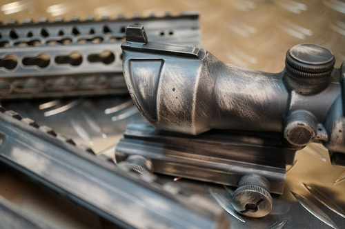 Cerakote Camo Battleworn AR15